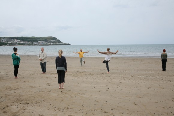 tai-chi on the beach
